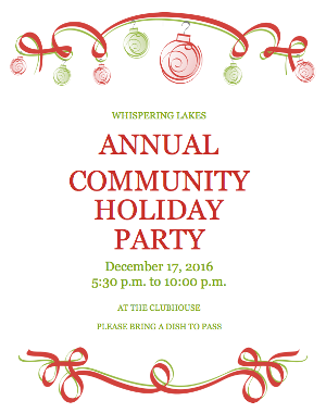 WHISPERING LAKES HOLIDAY PARTY
