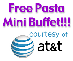 Free Pasta Mini Buffet